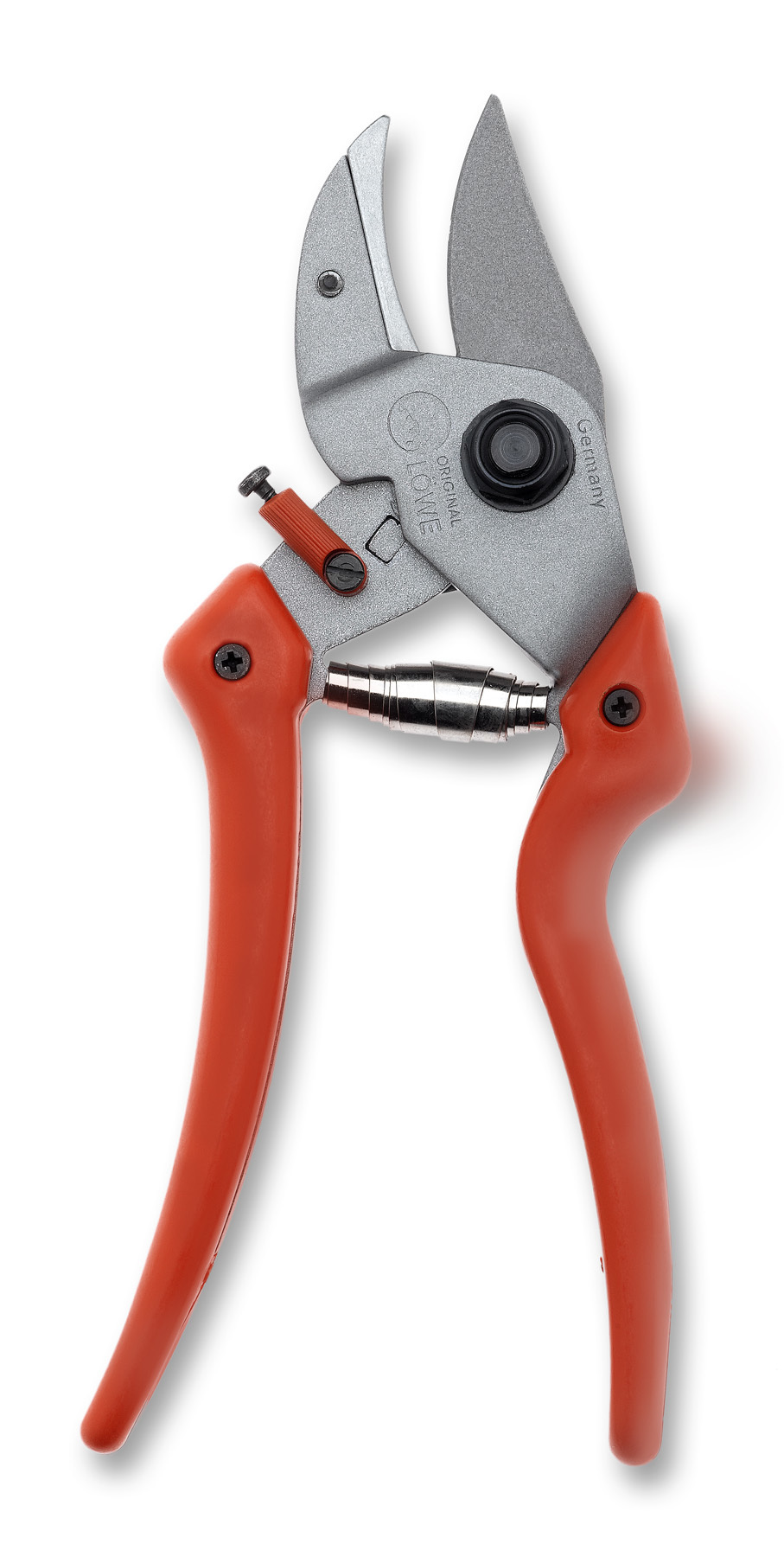 LÖWE 7.107 Anvil pruner with short cutting head and curved blade LO-7.107