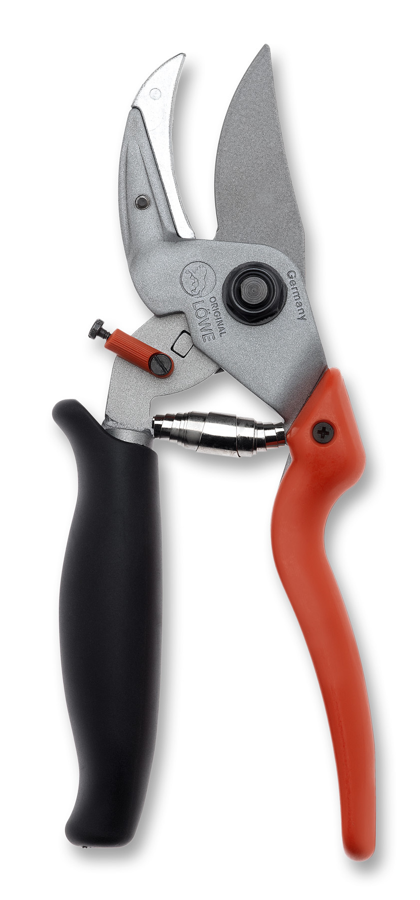 LÖWE 8.109 Anvil pruner with curved blade and rotating handle LO-8.109