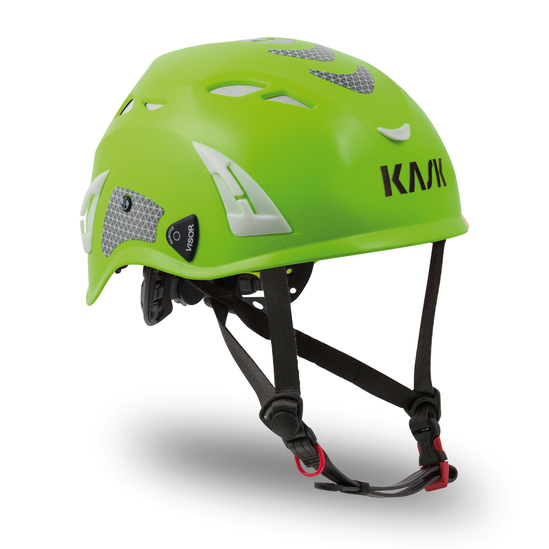 Kask Superplasma HI VIZ Helmet — Lime Fluorescent KA-WHE00011.224