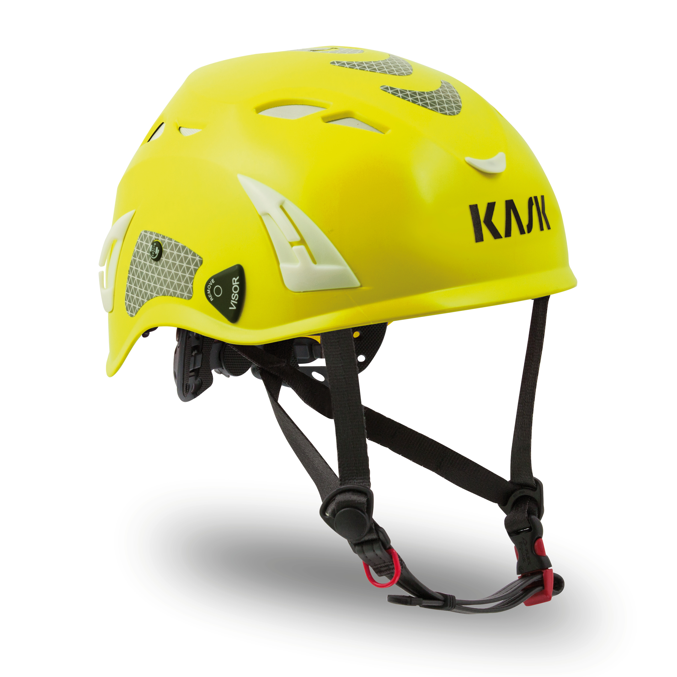 Kask Superplasma HI VIZ Helmet — Yellow Fluorescent KA-WHE00011.221