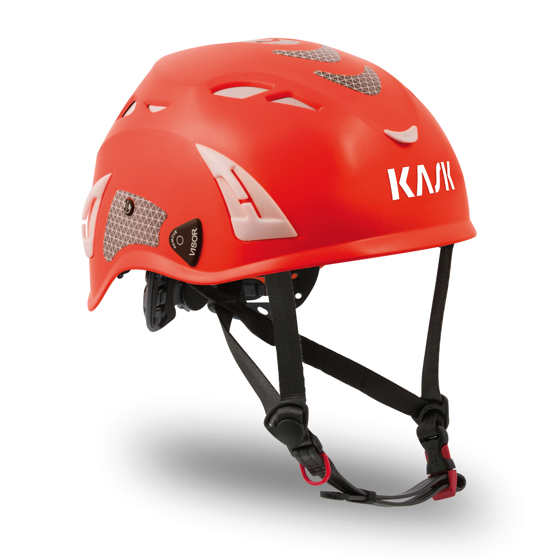Kask Superplasma HI VIZ Helmet — Red Fluorescent KA-WHE00011.223