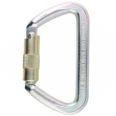 ISC Steel Iron Wizard Carabiner Single-Locking ST-32112