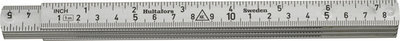 Hultafors Aluminium Folding Rule A61 — 1m, 6 sections