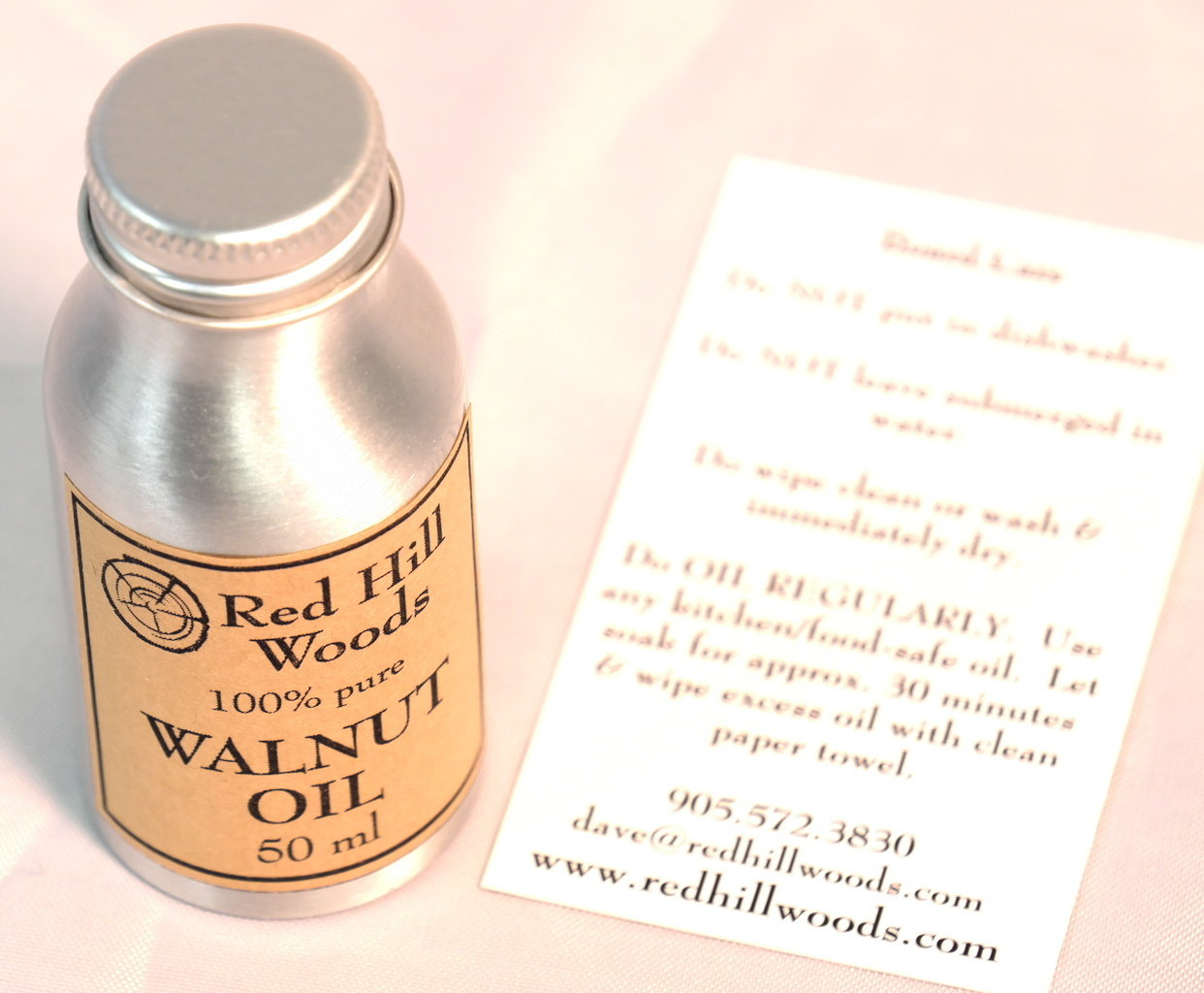 Red Hill Woods Walnut Oil for Boards RHW-WALNUT-OIL