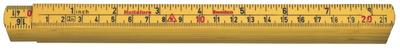 Hultafors Fibreglass Folding Rule G61 — 2m, 10 sections