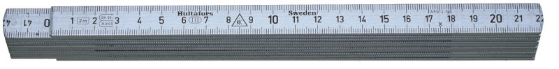 Hultafors Aluminium Folding Rule A59 — 2m, 10 sections