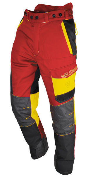 Comfy Lumberjack Trousers—Red/Yellow