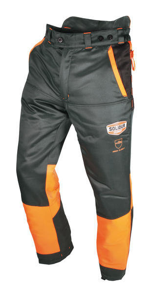 Authentic Lumberjack Trousers—Grey/Orange SOL-AUPA