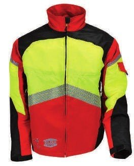 Authentic Work Jacket—Red/Yellow SOL-AUVERE