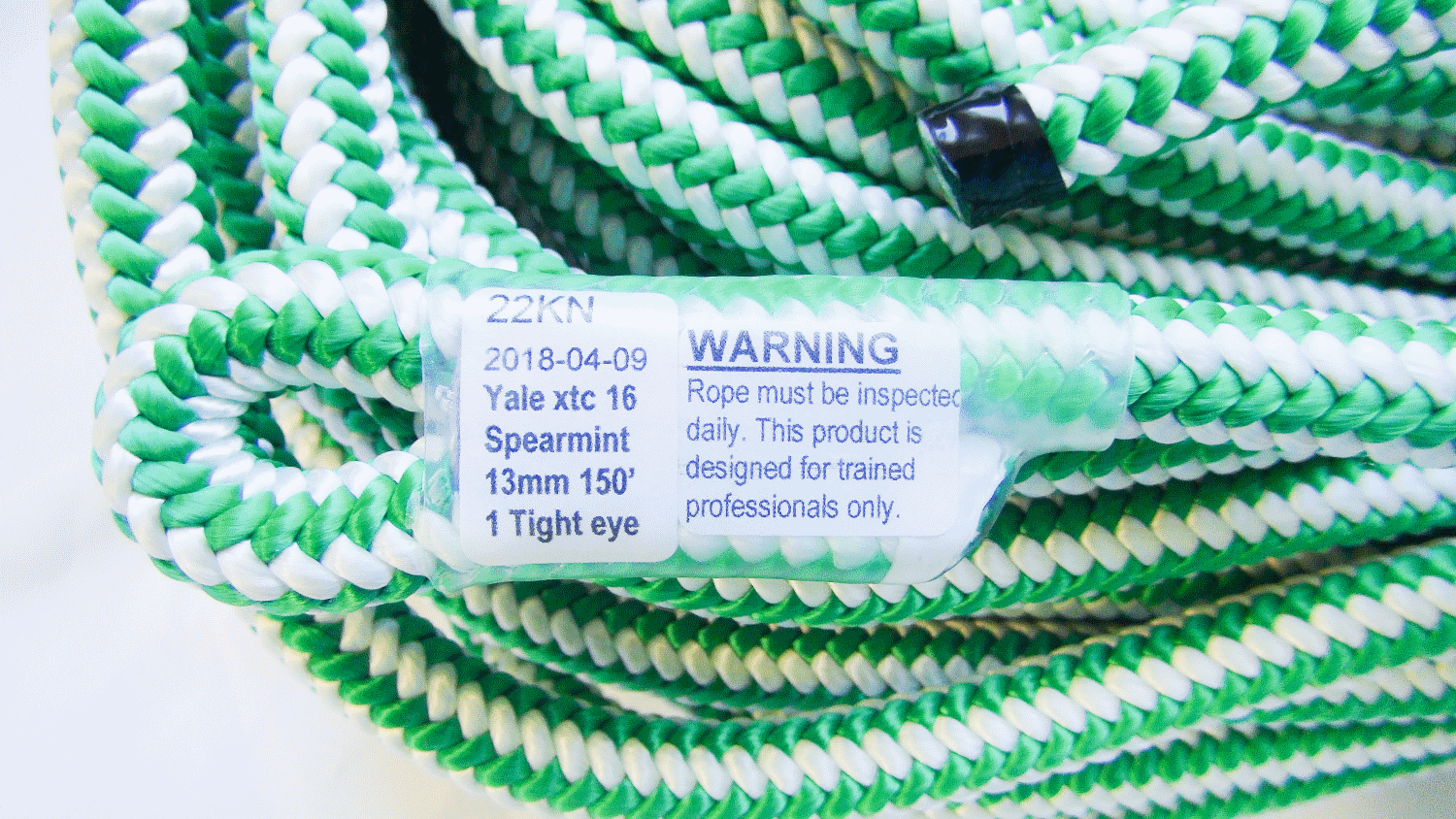 XTC Spearmint Climbing Rope with Tight Eye