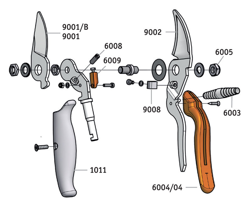 LÖWE 9.109 Bypass pruner with rotating handle