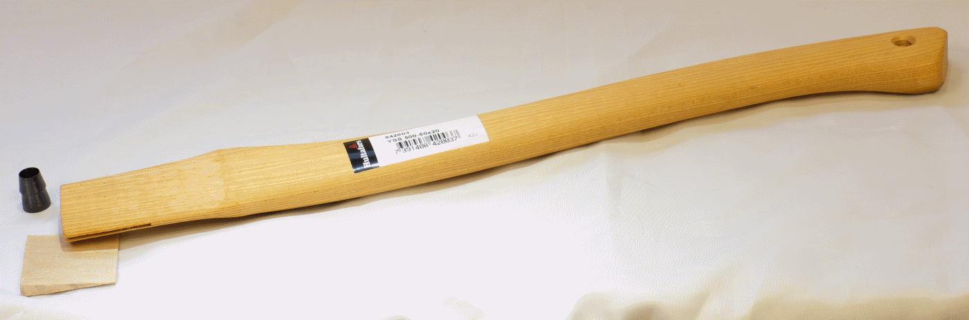 Axe Shaft Curved With Wooden Wedge—Spare Handle YSS 500-50x20