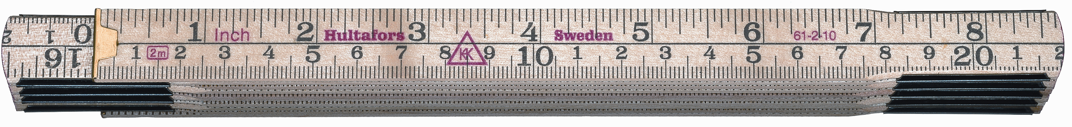 Hultafors Folding Rule 61 — 2m, 10 sections HU-100504