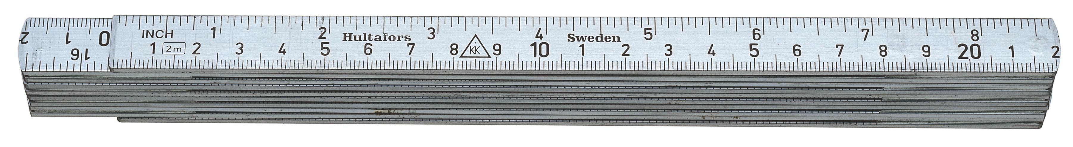 Hultafors Aluminium Folding Rule A61 — 2m, 10 sections HU-150203
