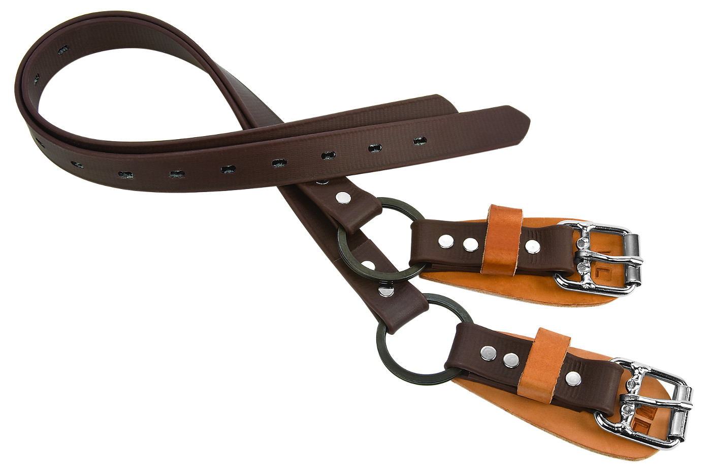 Pair of Split Ring Lower Climber Straps — 26 inches