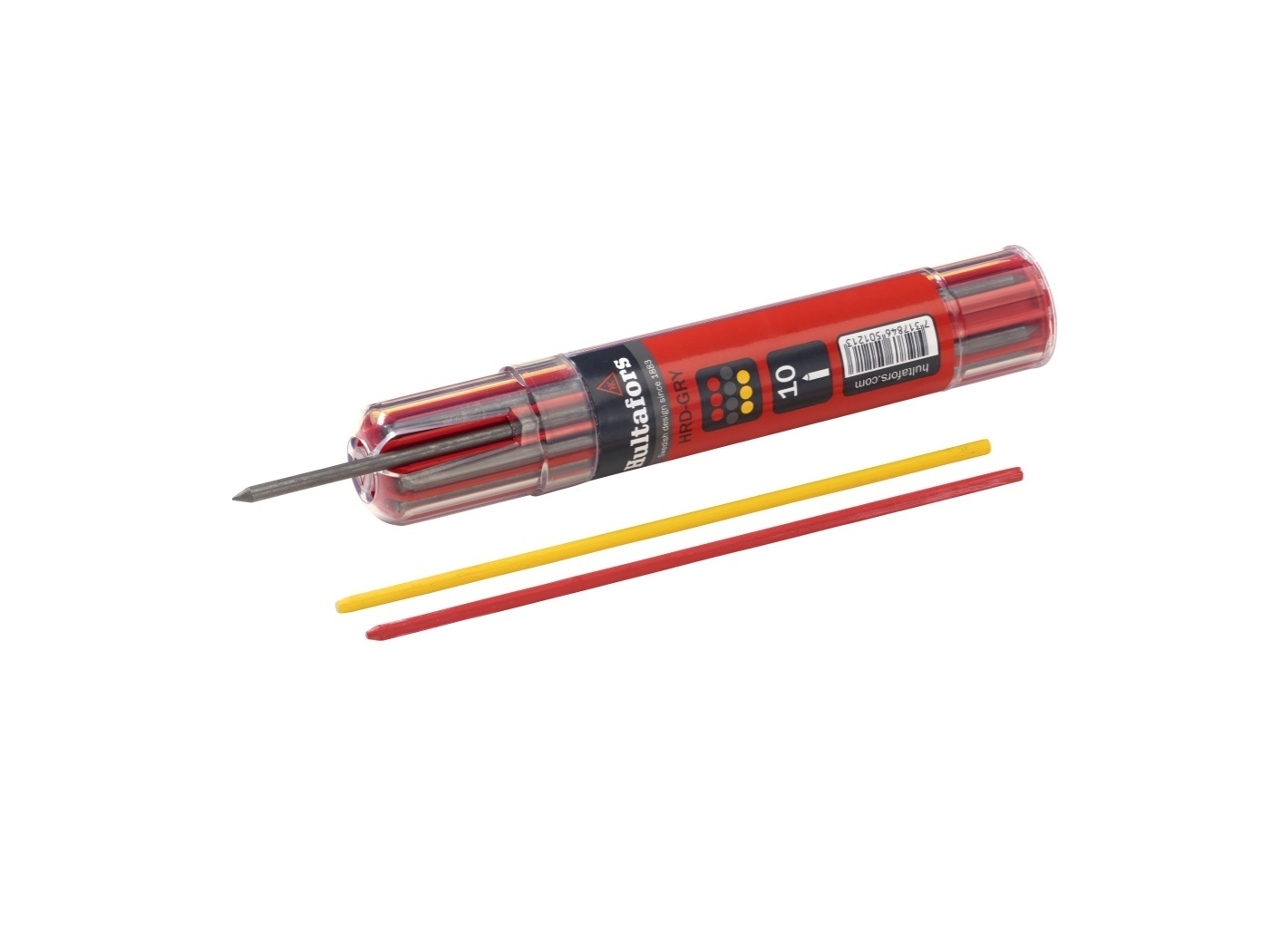 Hultafors Dry Marker Refills—Graphite and Chalk (Red and Yellow) HU-650120