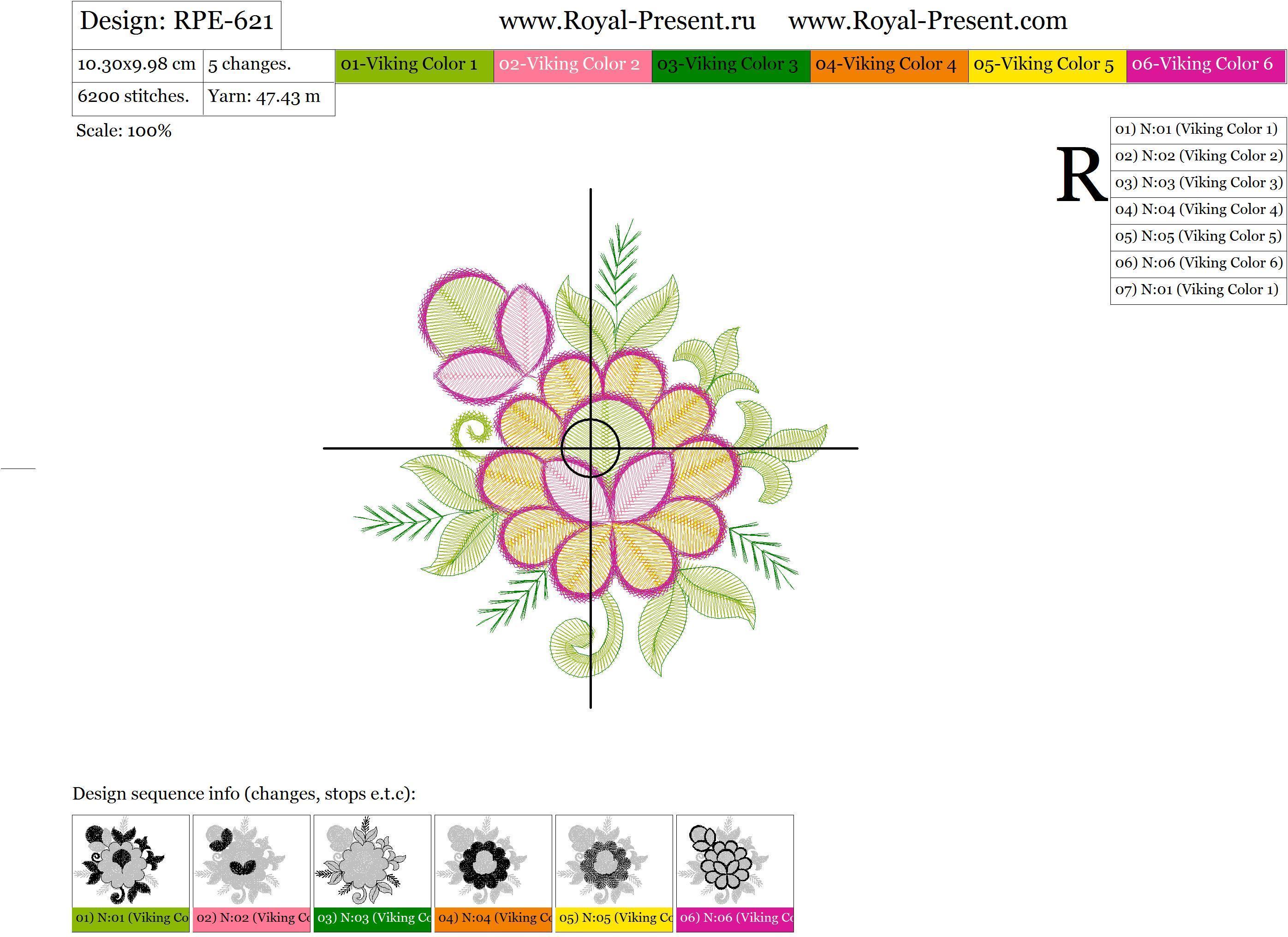 Дизайн для машинной вышивки бесплатно Цветочки