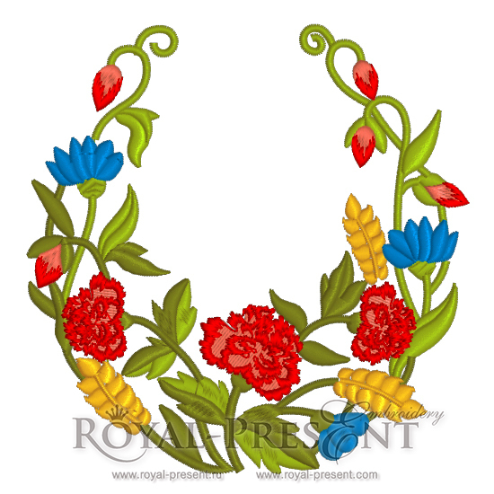 Бесплатный Дизайн машинной вышивки Летние цветы