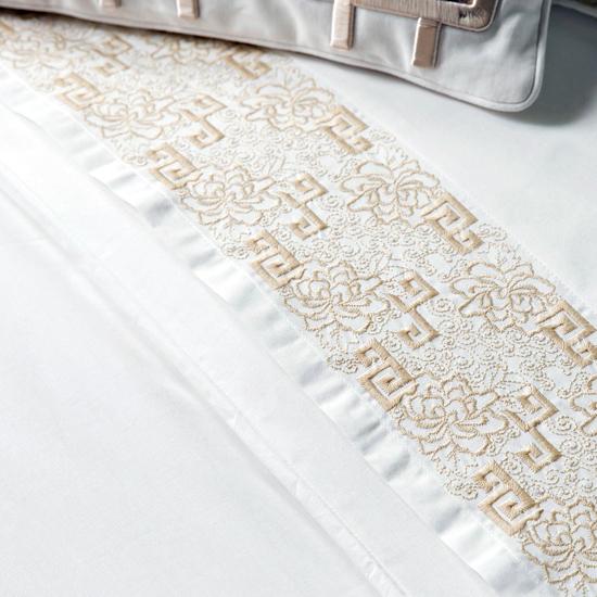 Дизайн машинной вышивки Китайский бордюр для белья - 2 размера