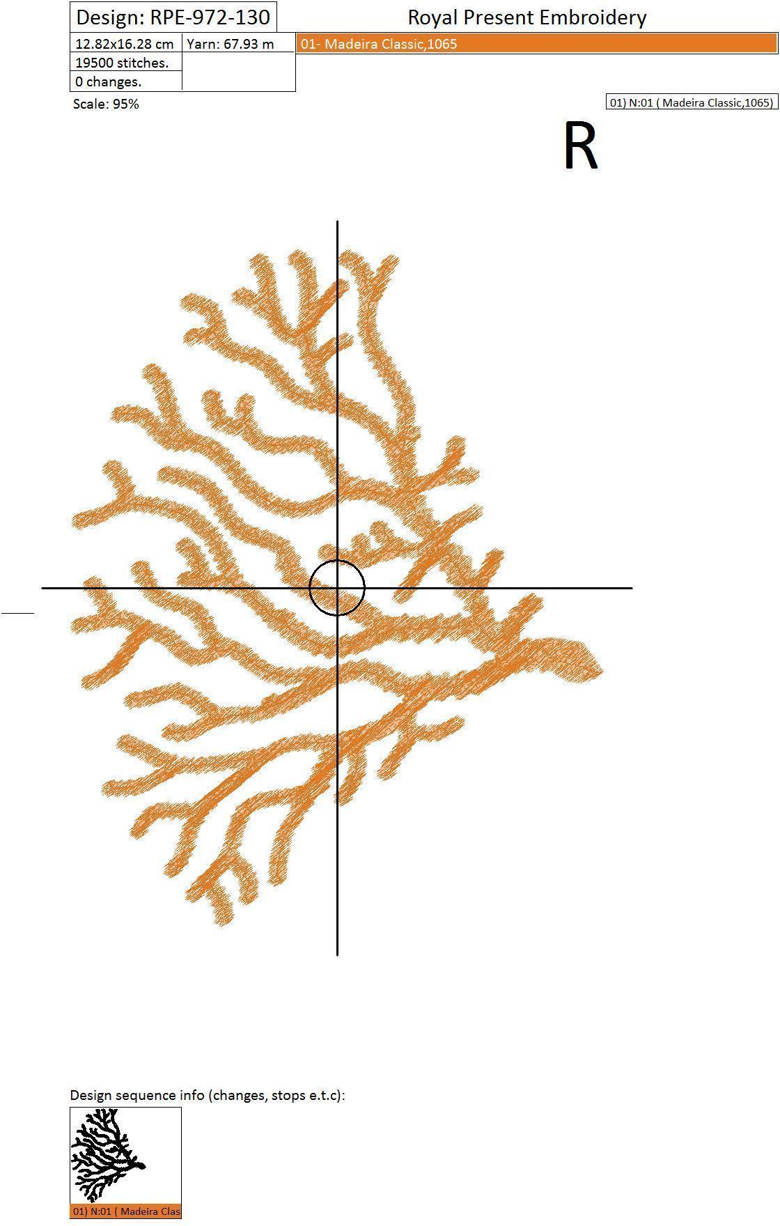 Набор дизайнов для машинной вышивки Кораллы