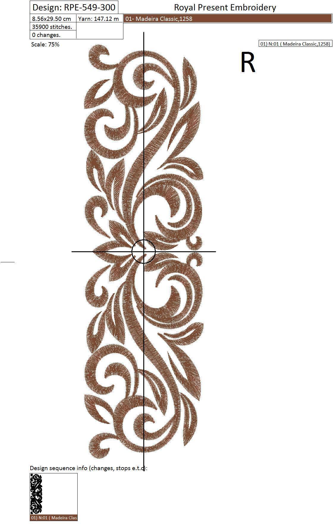 Классический бордюр для белья дизайн машинной вышивки