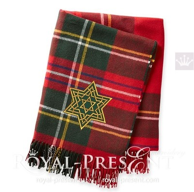 Дизайн для машинной вышивки с аппликацией Звезда Давида