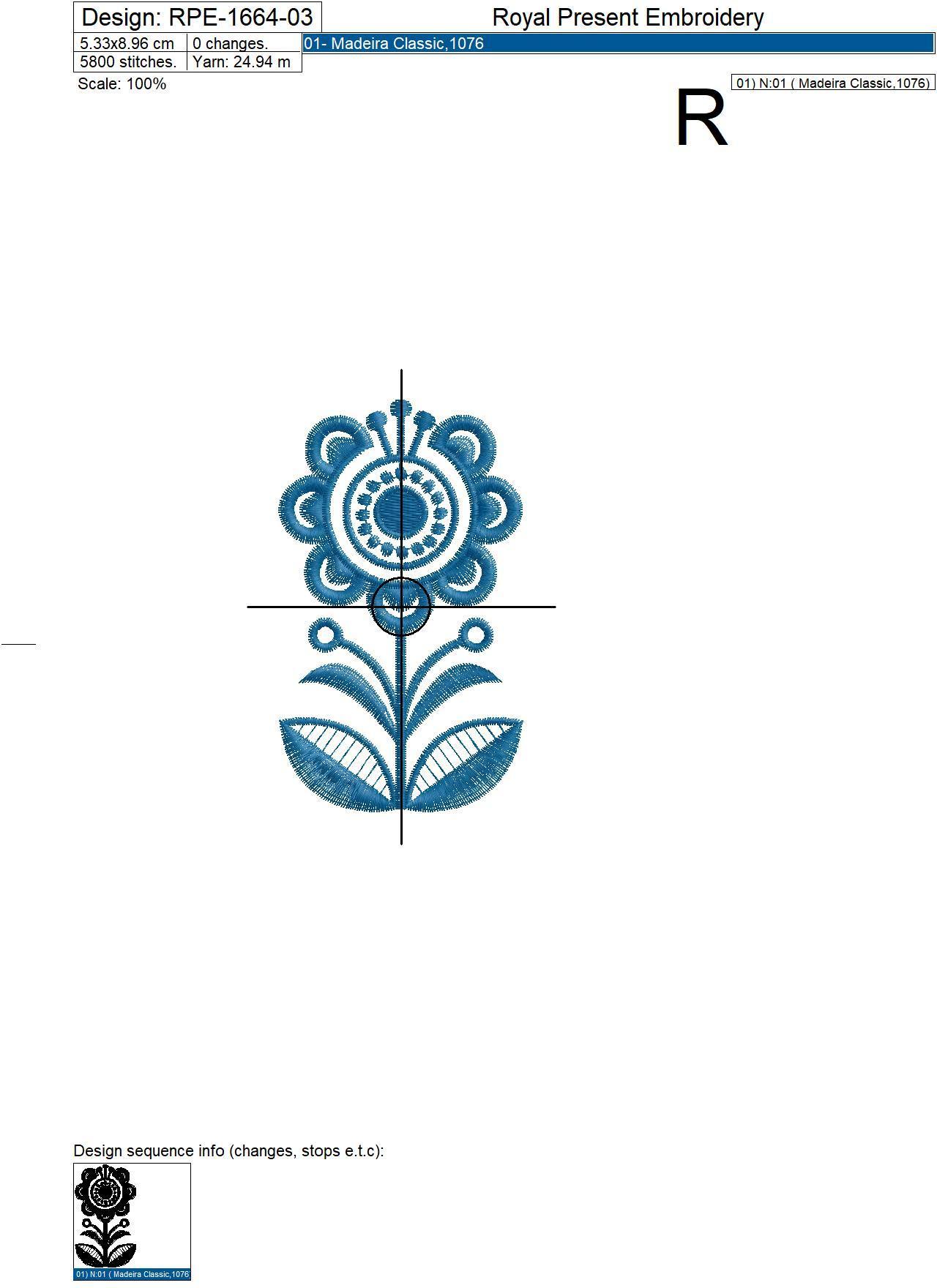 Набор Скандинавские цветы дизайны машинной вышивки