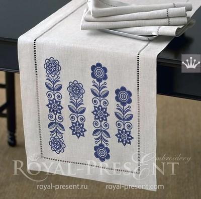 Дизайны машинной вышивки Скандинавские бордюры