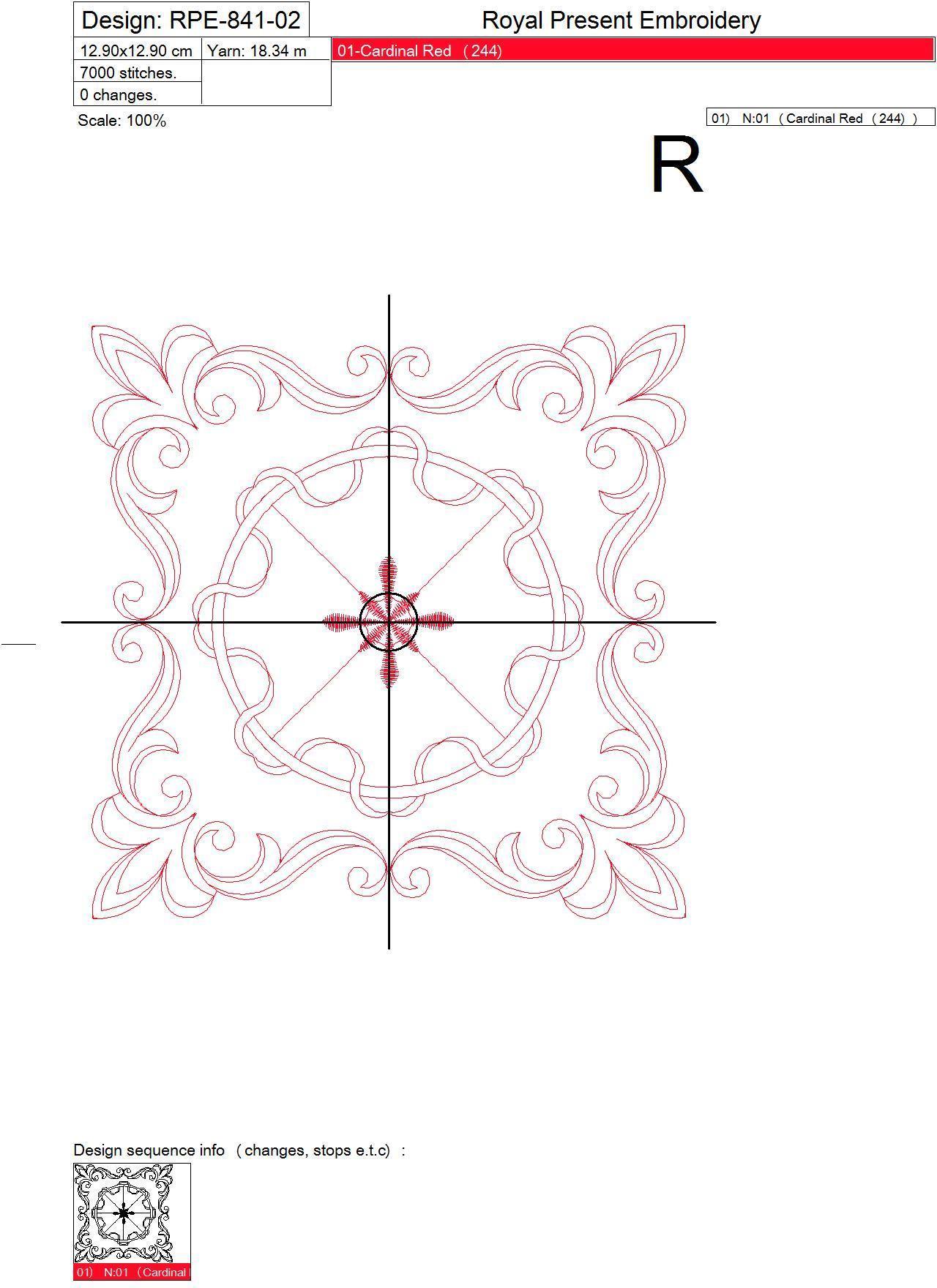 Графический дизайн машинной вышивки для квилта