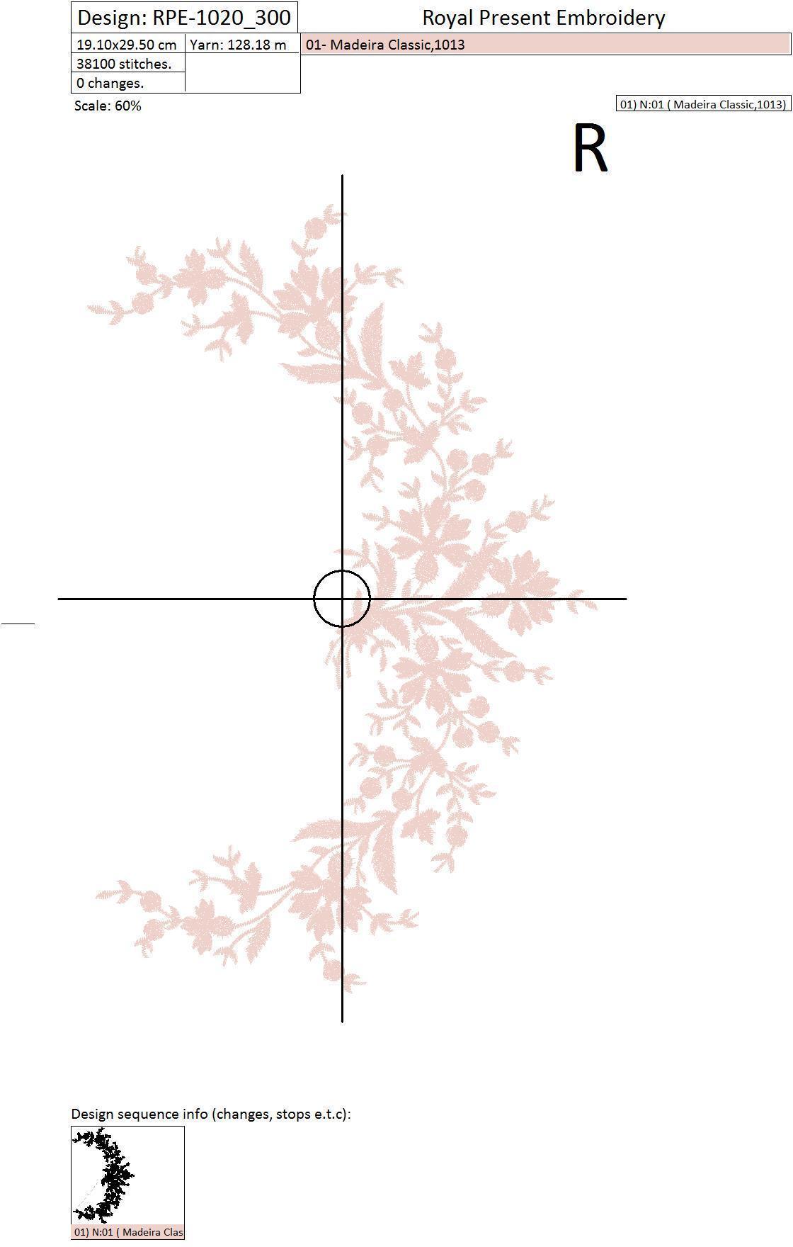 Дизайн машинной вышивки Элегантный декор с васильками - 2 размера