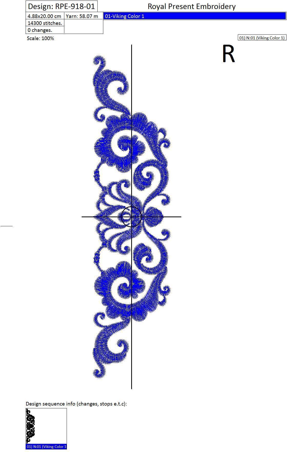 Дизайн машинной вышивки Элегантный декор - 2 размера
