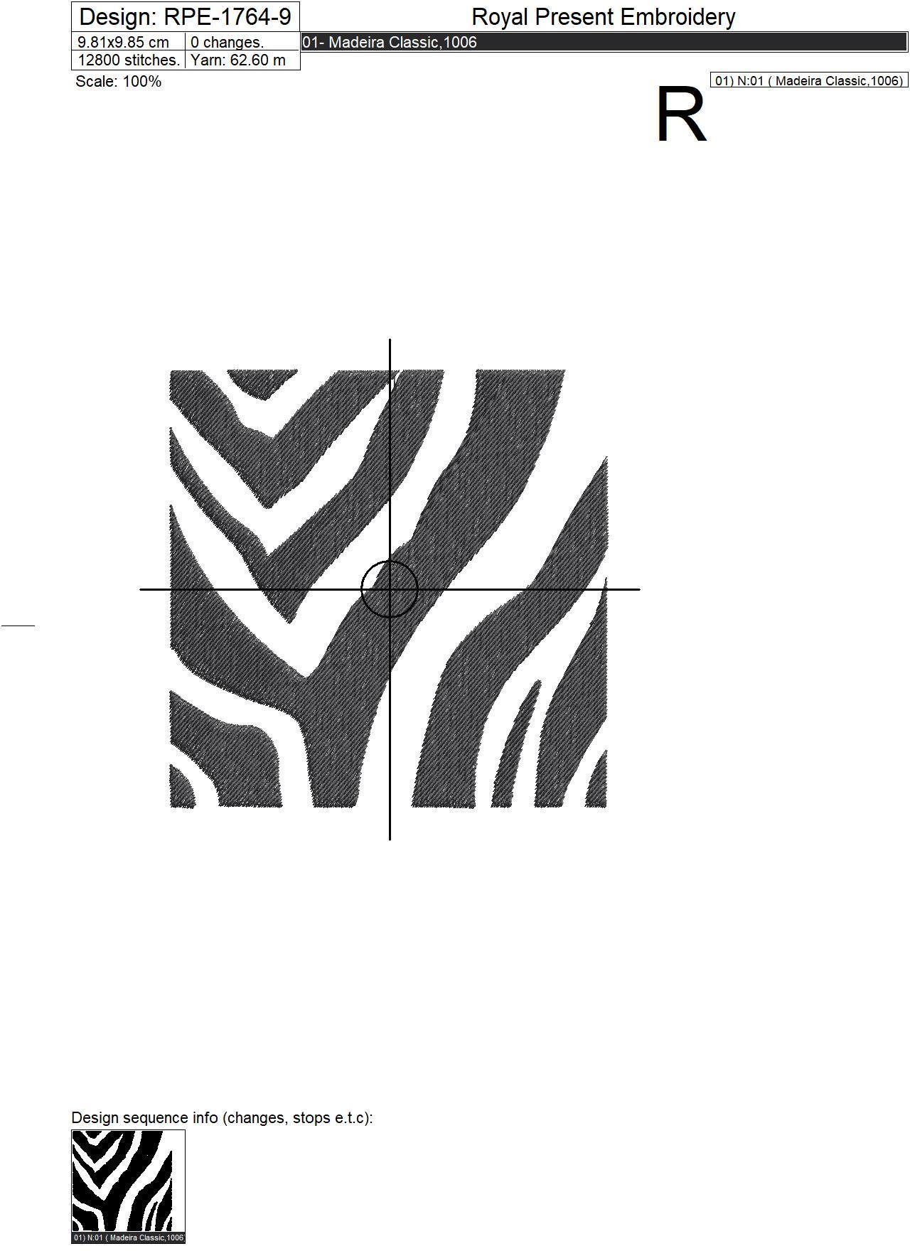 Дизайны машинной вышивки Принты Зебры для квилта