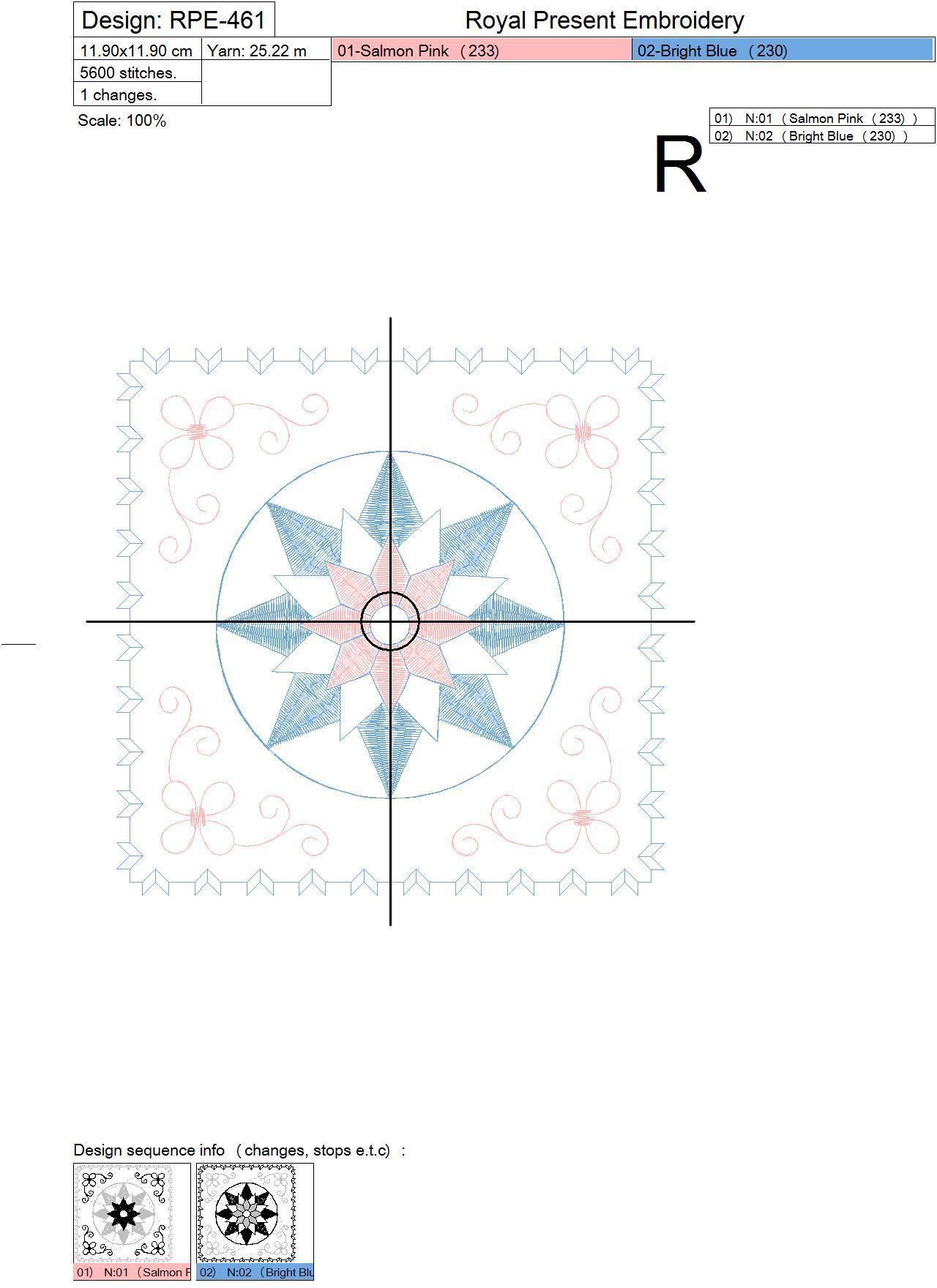 Дизайн машинной вышивки - Геометрический орнамент для квилта