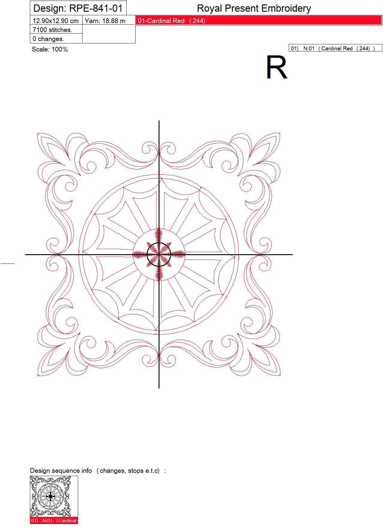 Дизайн машинной вышивки для квилта #2