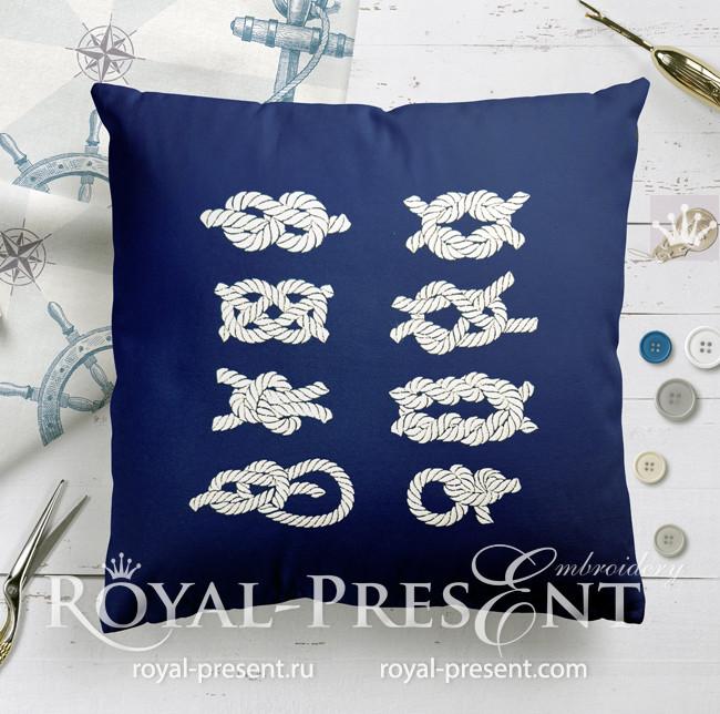 Набор дизайнов машинной вышивки Морские узлы