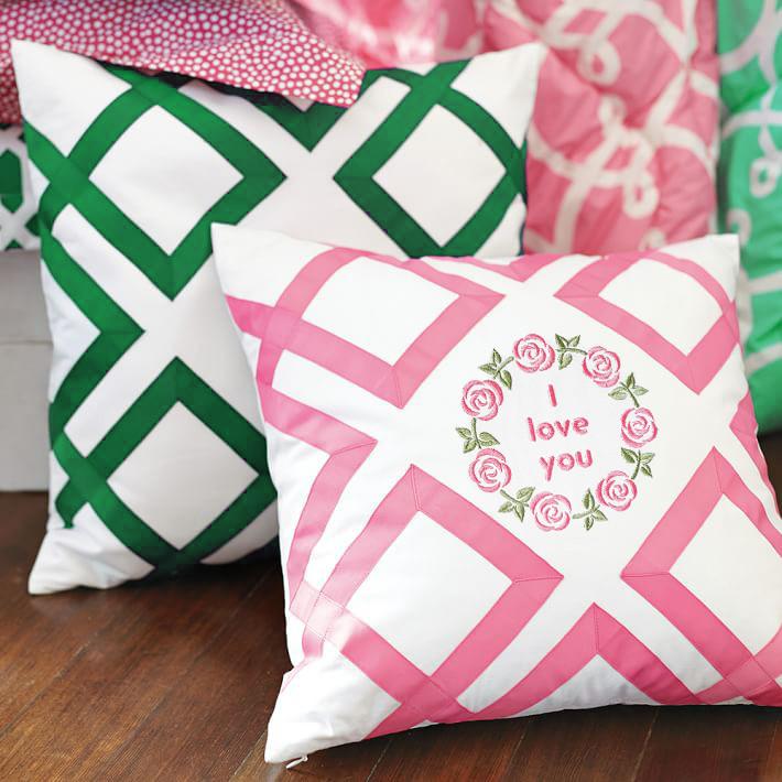 Рамка и роз Дизайн машинной вышивки - 4 размера
