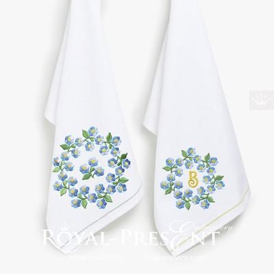 Дизайны машинной вышивки Цветы - 6 размеров