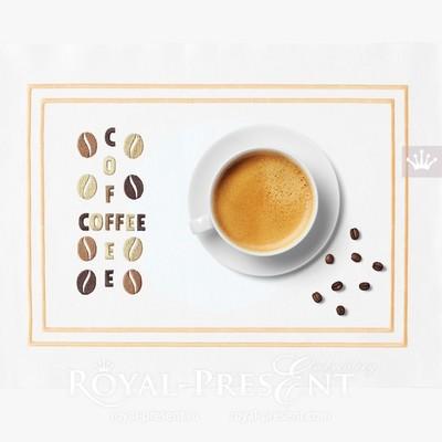 Дизайн машинной вышивки Кофе - 2 размера