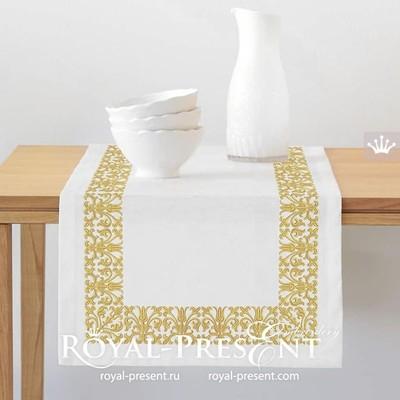 Дизайн машинной вышивки Винтажный декор для бордюра - 3 размера