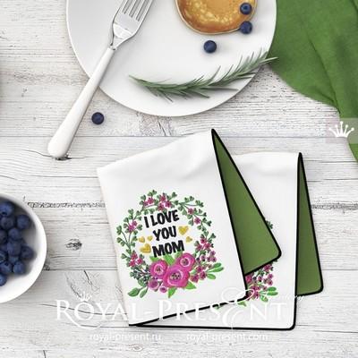 Дизайн машинной вышивки Летняя рамка с цветами - 3 размера