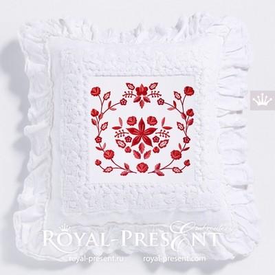 Дизайн машинной вышивки Польский фольклорный узор - 2 размера