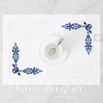 Дизайн машинной вышивки Польский угловой орнамент - 2 размера