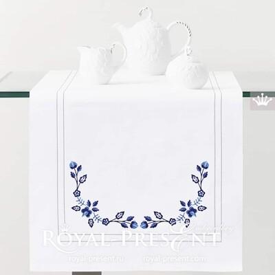 Польский цветочный угловой узор для машинной вышивки - 2 размера