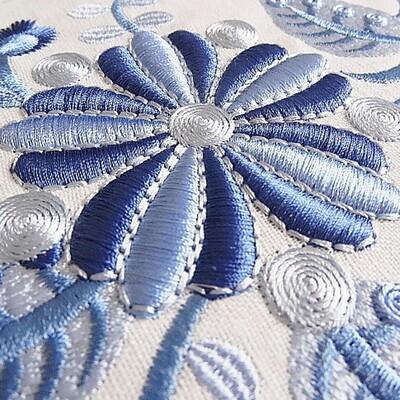 Дизайн для машинной вышивки Фантастические цветы 3D