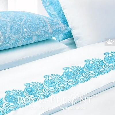 Дизайн машинной вышивки Ориентальный бордюр - 2 размера