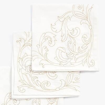 Витиеватый Угловой элемент Дизайн машинной вышивки - 6 размеров