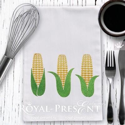 Дизайны для вышивальной машины Початки кукурузы - 3 размера