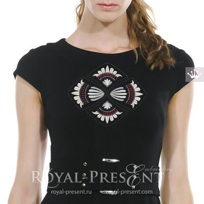 Бесплатный Дизайн машинной вышивки Польский фольклорный декор