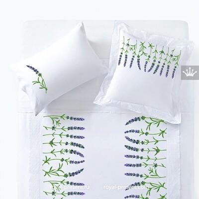 Бордюр Лаванды Дизайн машинной вышивки - 6 размеров