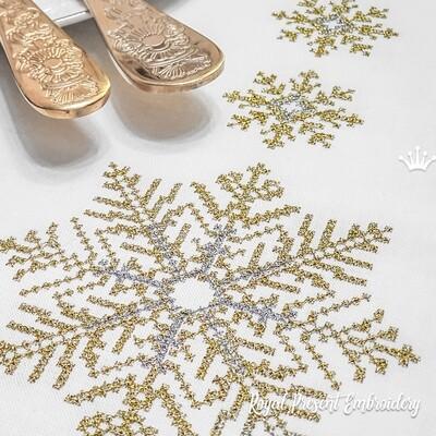 Снежинки Дизайны для машинной вышивки крестом - 3 размера